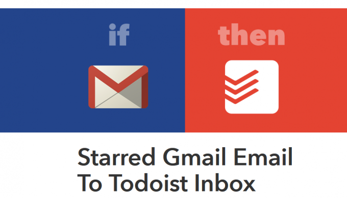 starred gmail email to todoist inbox ifttt recipe
