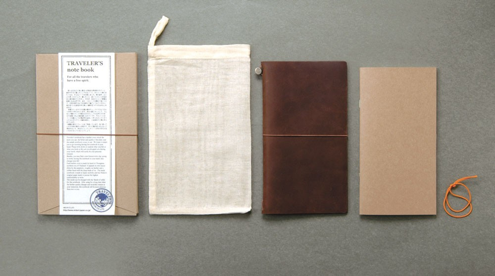 Brown Midori Traveler S Notebook