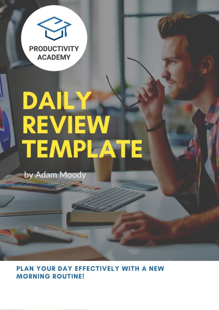 Daily review template and guide